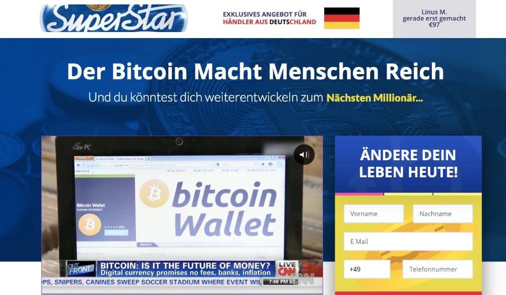 Bitcoin Superstar Erfahrungen und Test