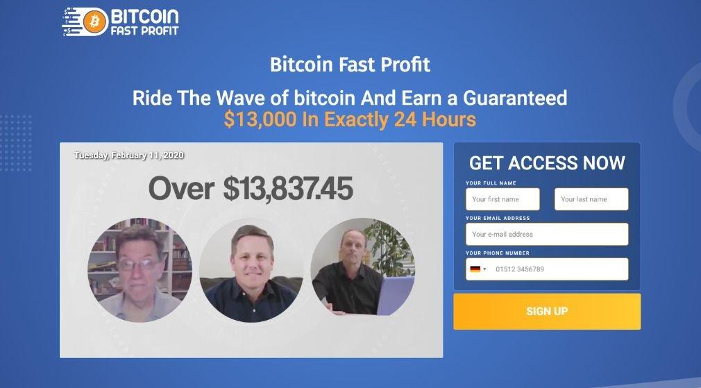 Esperienza e test di Bitcoin Fast Profit