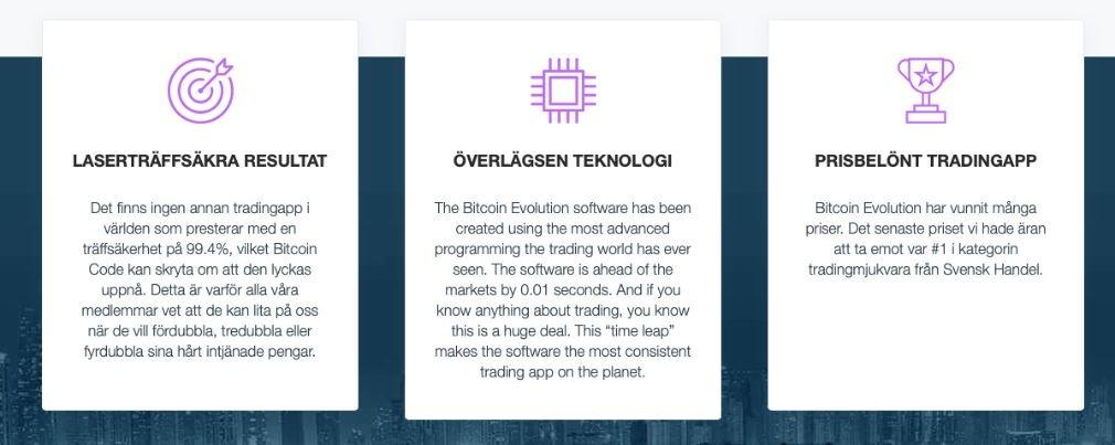Bitcoin Evolution fördel