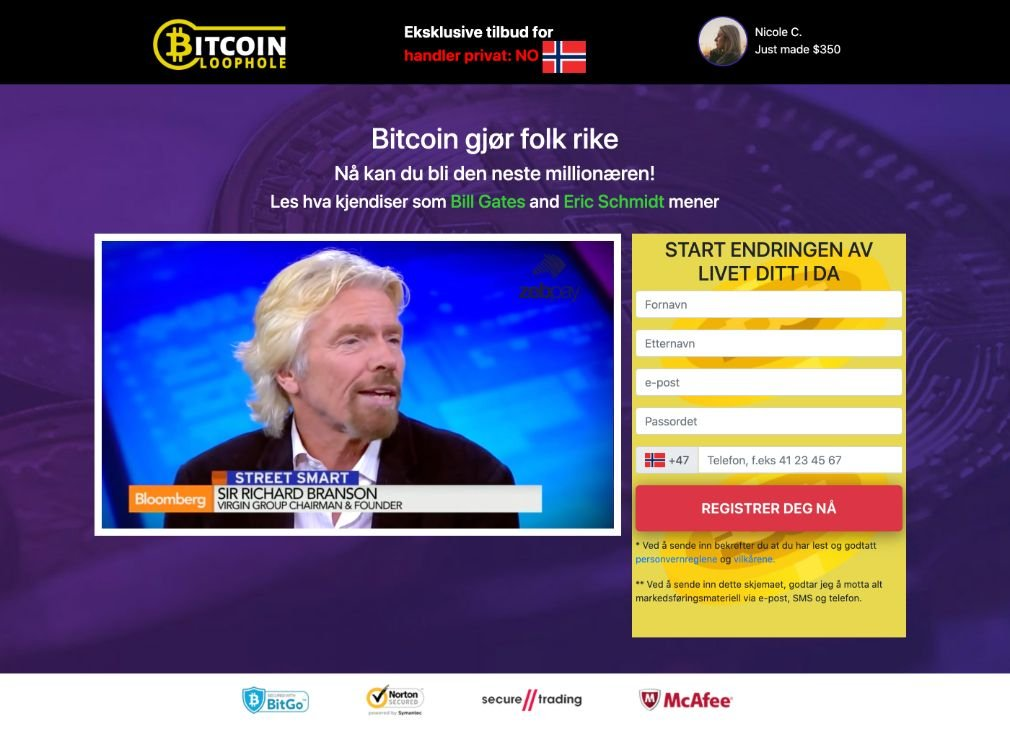 Bitcoin Loophole Svindel