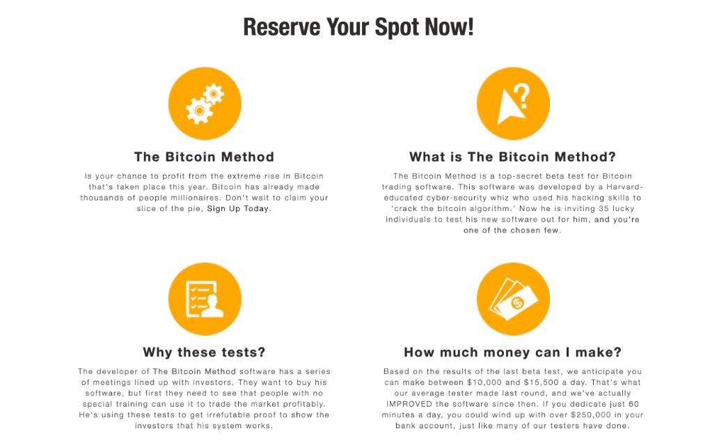 Bitcoin Method avantage