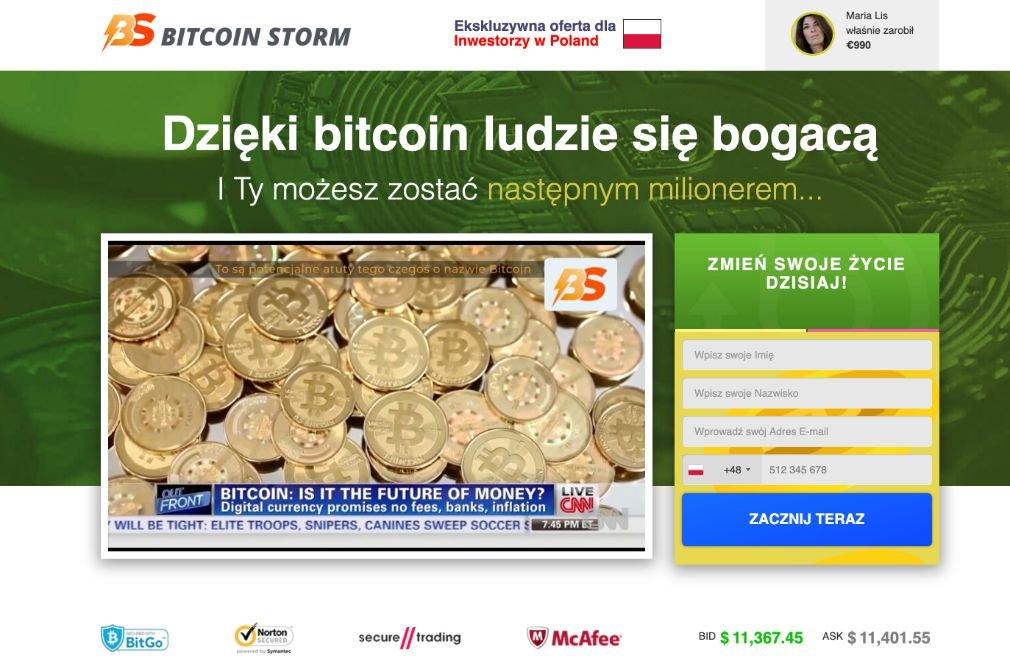 Bitcoin Storm Oszustwo