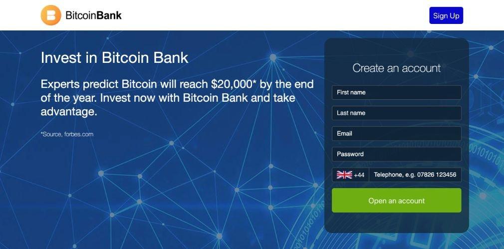 Bitcoin Bank arvostelu