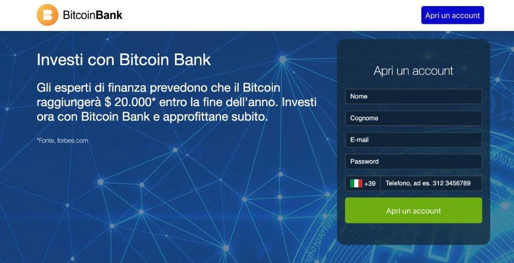 Bitcoin Bank Opinioni