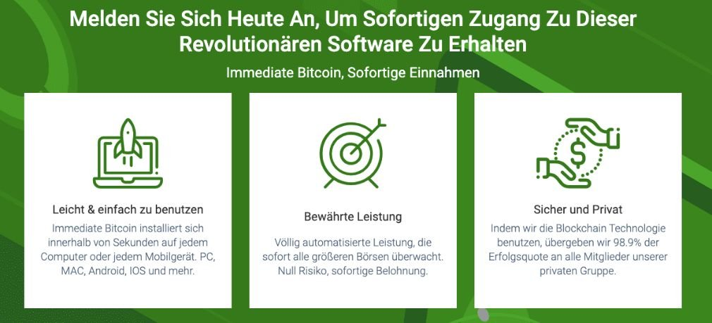 Umiddelbare Bitcoin fordele