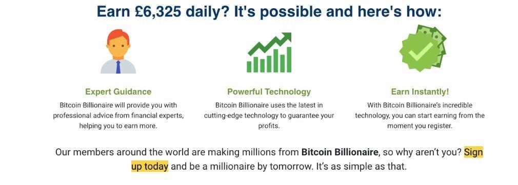 Bitcoin Billionaire succes