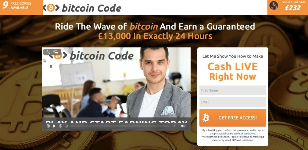 Bitcoin Code - How does the deposit work?