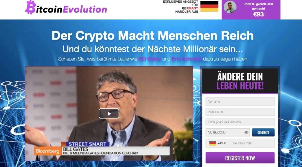 Bitcoin Evolution Erfahrungen und Test