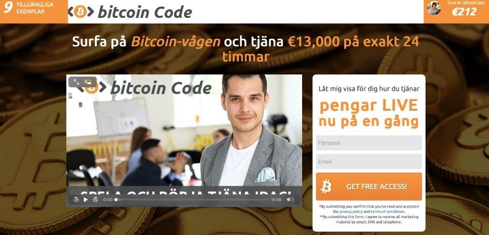 Bitcoin Code Schweden Start