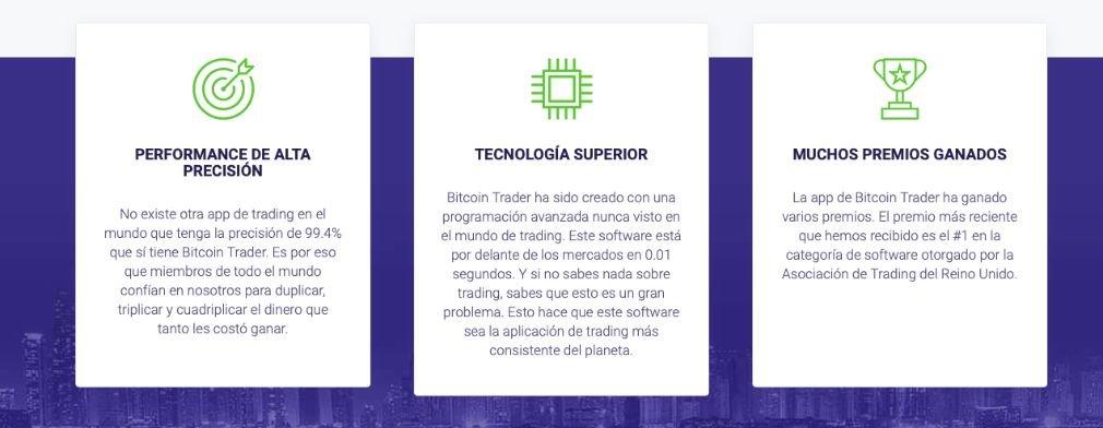 Bitcoin Trader Ventajas