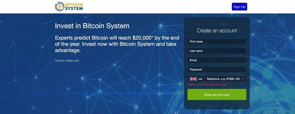 Bitcoin System oszustwo