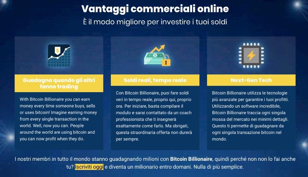 Bitcoin Billionaire benefici
