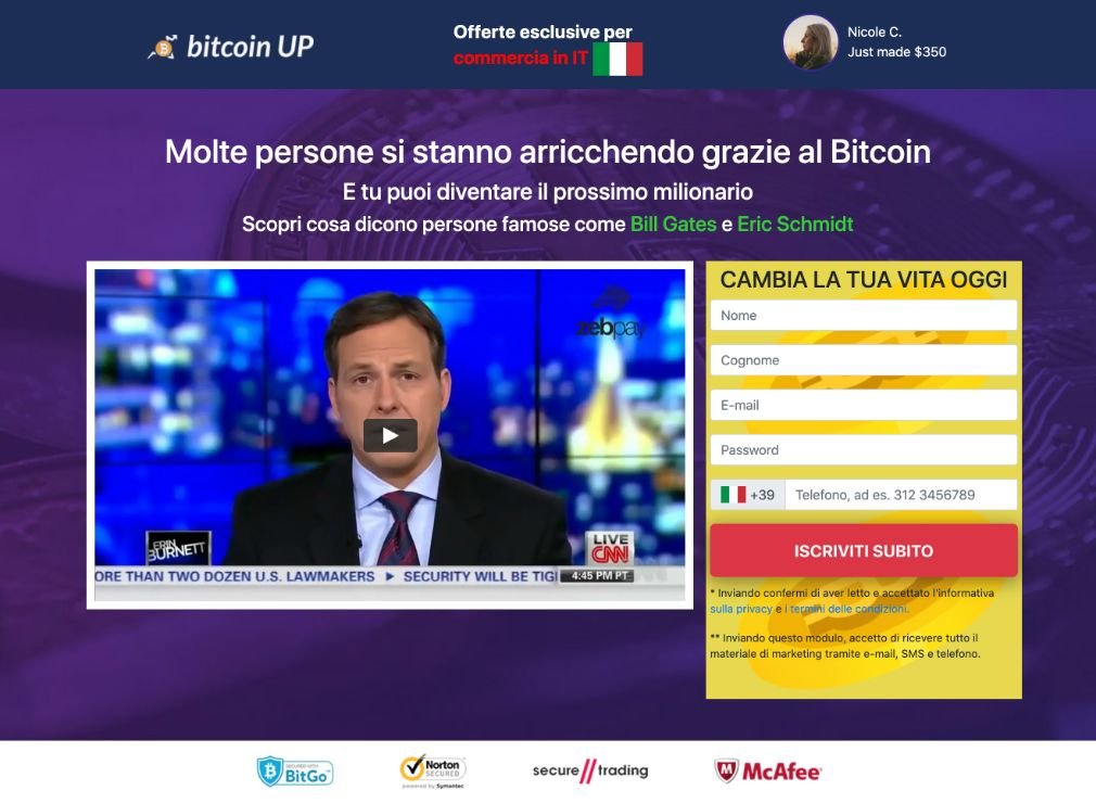 Bitcoin UP Opinioni